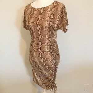 Michael Kors snake print lace up chain dress